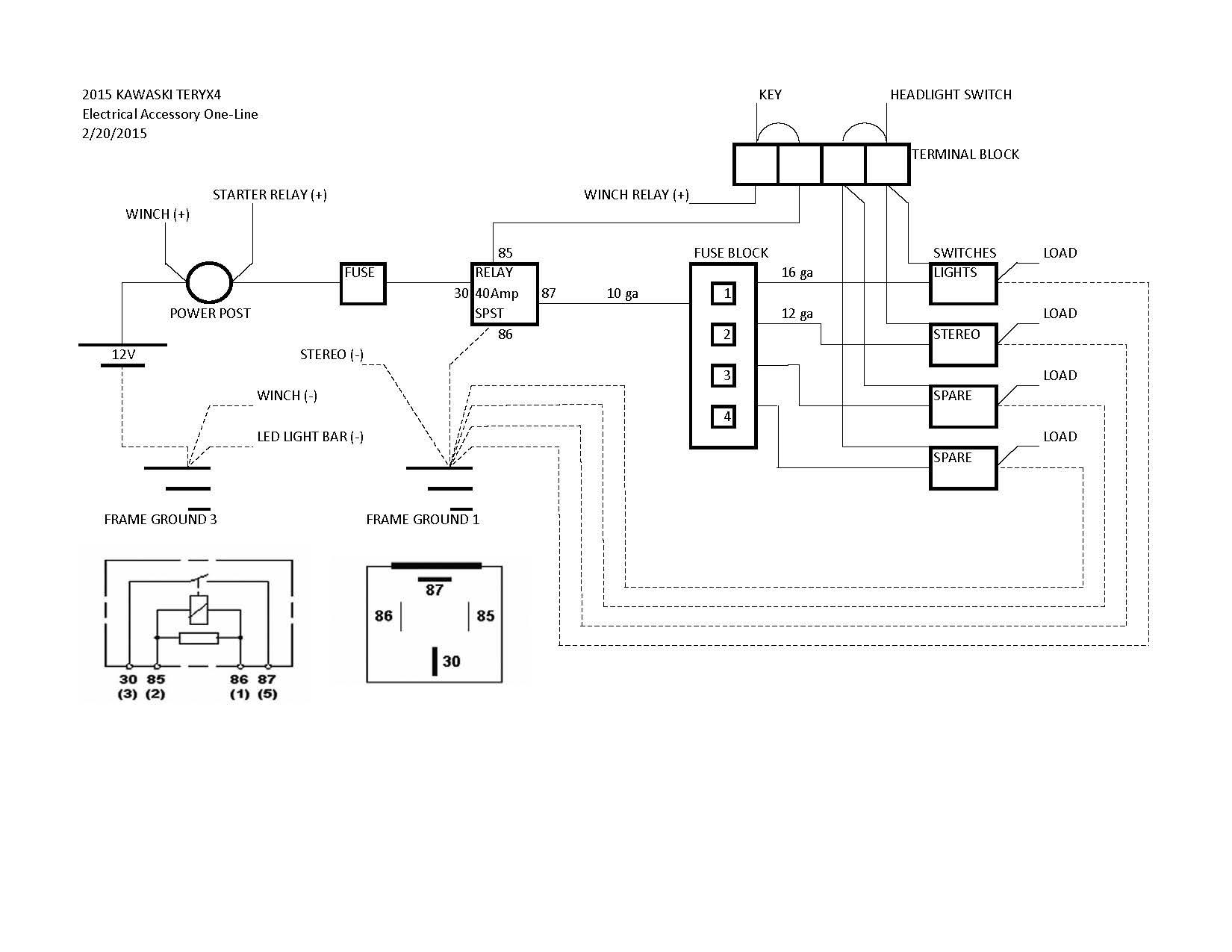 2008 Kawasaki Teryx Fan Wiring Diagram