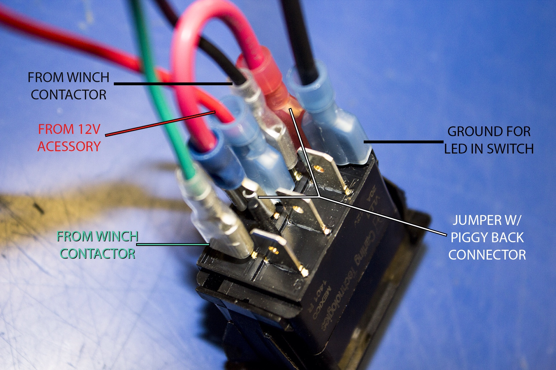12v Lighted Toggle Switch Wiring Diagram