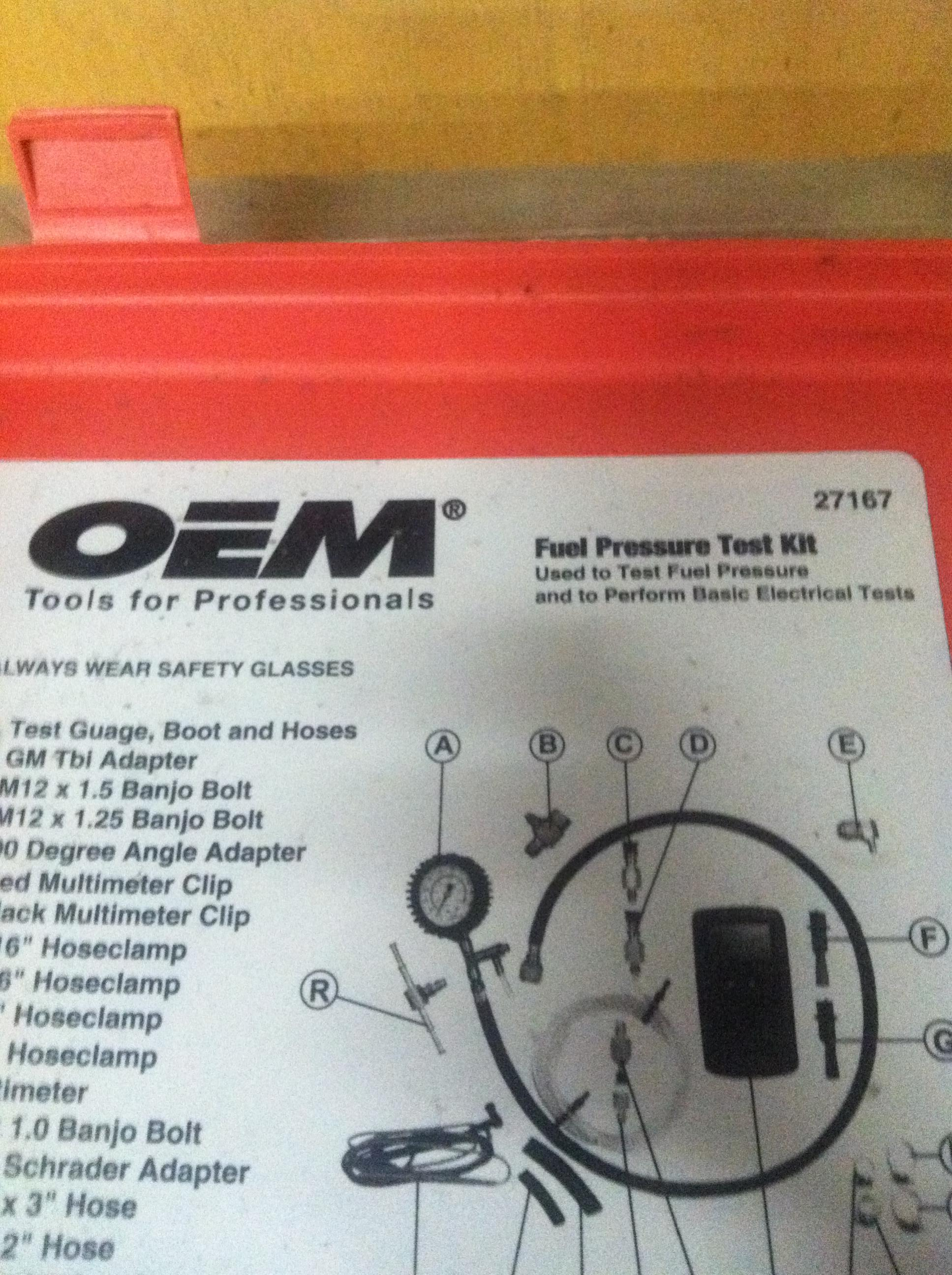 What to use to test Fuel preasure?? - Kawasaki Teryx Forum