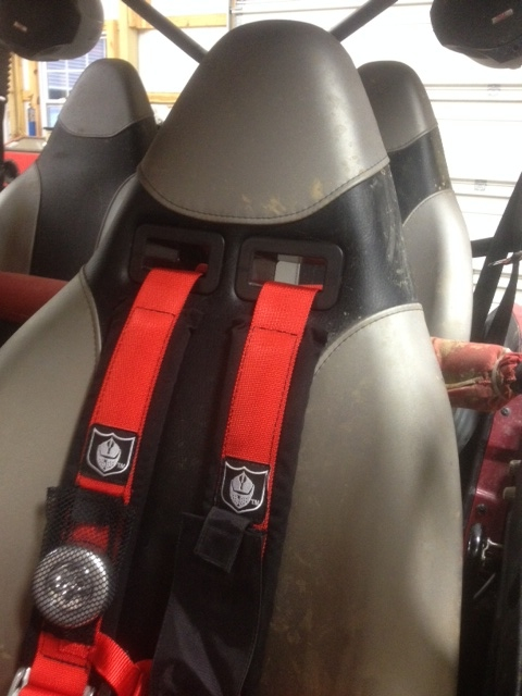 2 Post Lift Garage >> Finally installed seat grommets and pro armor harnesses. - Kawasaki Teryx Forum