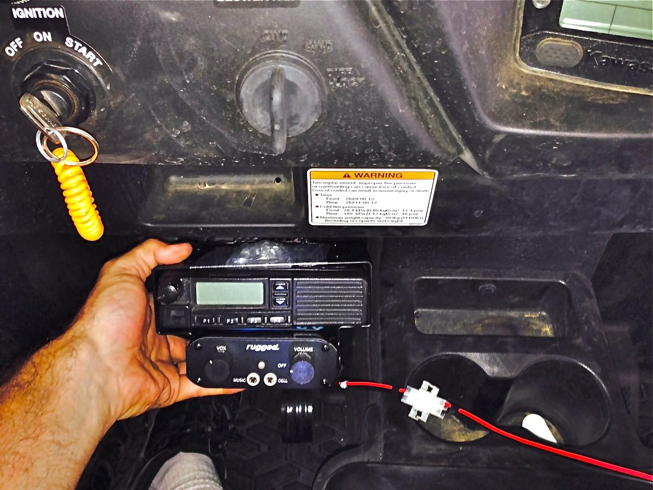 Rugged Radio Mounting Solutions? - Kawasaki Teryx Forum