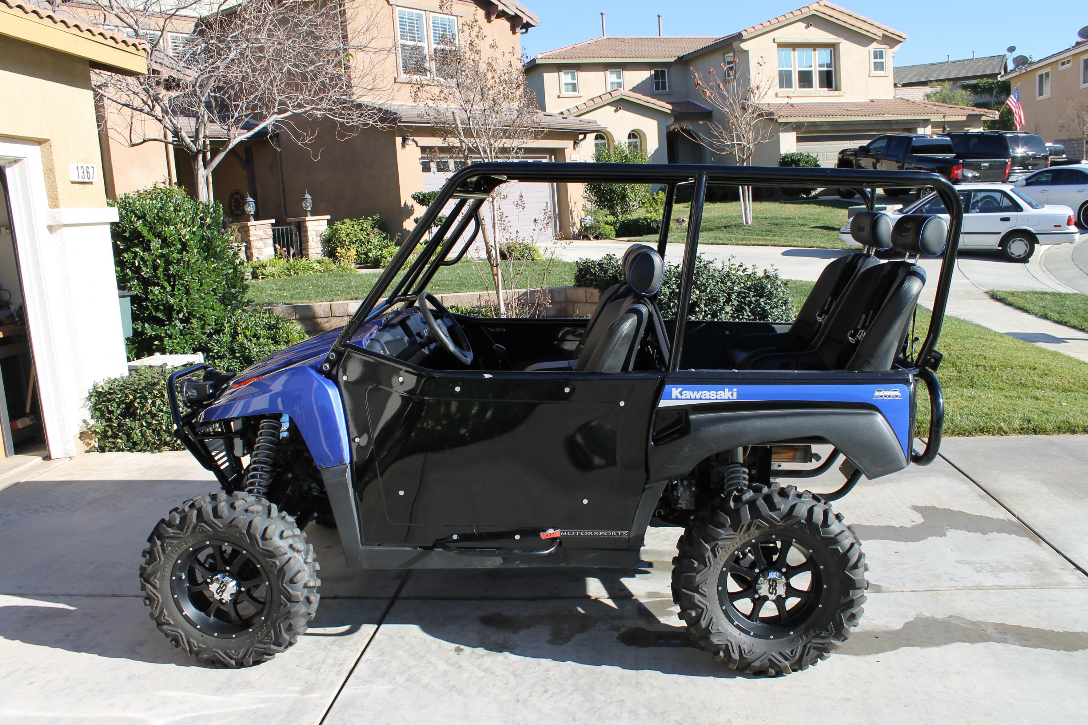 2009 kawasaki teryx street legal 4 seater +6lt sdr built $14,000